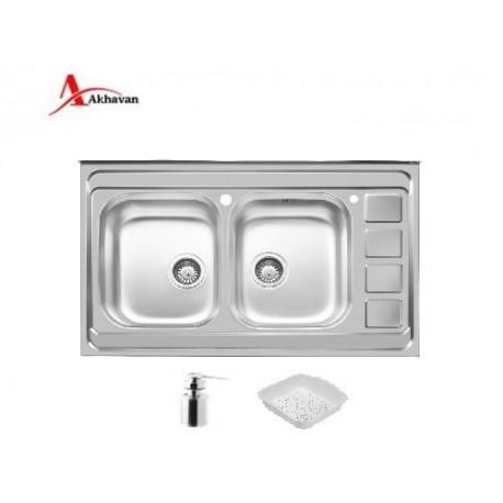 سینک ظرفشویی روکار اخوان کد 372
